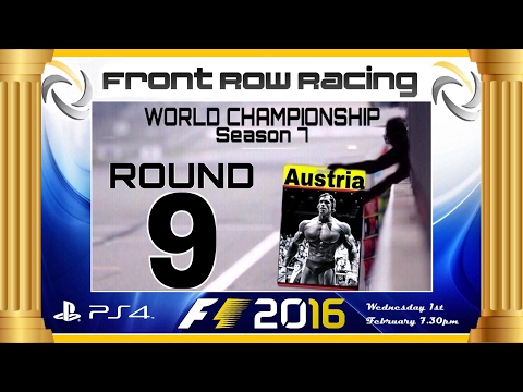 Front Row Racing World Championship Round 9 Austria F1 2016