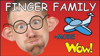 Finger Family | Wheels on the bus + MORE English Songs and Stories for Kids from Steve and Maggie