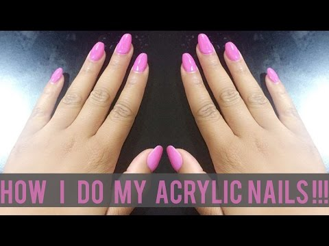 How I Do My Acrylic Nails at Home {Beginner Friendly} | BeautybyTommie