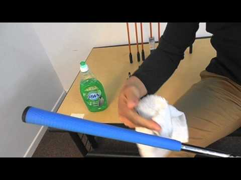 How to clean your golf club grips at home - tutorial - www.fairwaygolfusa.com