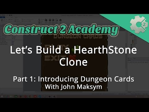 Let's Build a HearthStone Clone Part 1: Introducing Dungeon Cards - with John Maksym