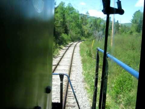 Adirondack Scenic Railroad Cab Ride through Lake Placid