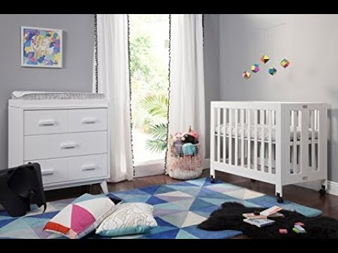 BABYLETTO Origami Mini Crib Assembly Unboxing M6698NX with instruction manual