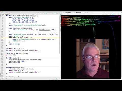Arpeggio Maker in JavaScript with p5.js