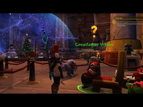 World Of Warcraft Quest Info: A Smokywood Pastures' Thank You - Feast of Winter Veil 2017