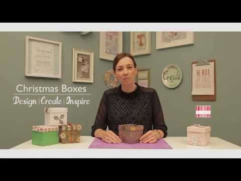 DIY Christmas Box Tutorial with Free Template
