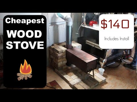 CHEAPEST WOOD STOVE INSTALLATION for Tiny House EVER!