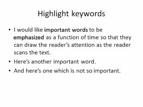 Selectively highlighting text in PowerPoint