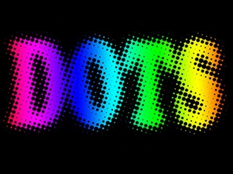 Photoshop Tutorial: How To Make TEXT into Colorful DOTS.