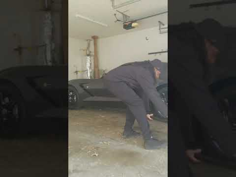 C7 stingrays corvette side skirt install