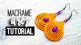 4e70fe3495a5 Aros gotas lineales » ✨ tutorial   como hacer   diy ○ Earrings #118