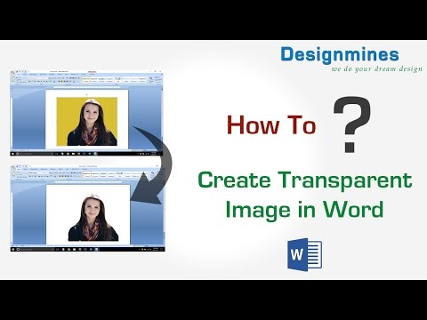 How to Create Transparent Image in Word