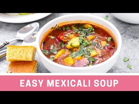 Easy Avocado Mexicali Soup