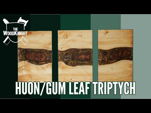How to make Resin & Woodworking Art! (Gum Leaf Triptych)