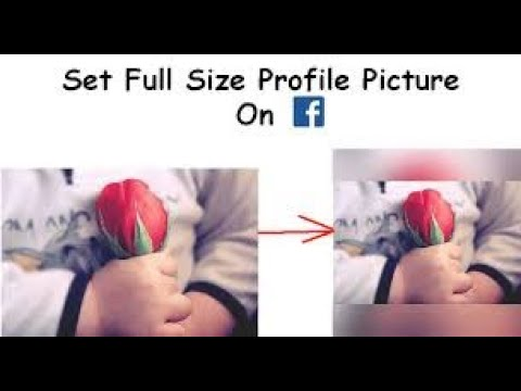 How to upload full profile picture on facebook without cropping easiest