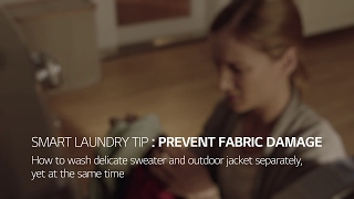 LG TWINWash™ Washing Machine:  Prevent Fabric Damage
