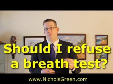 Should I refuse the breath or blood test - Virginia DUI law