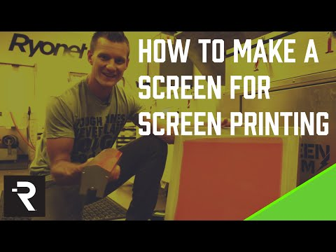Ryonet for Stahls' TV - How To Make A Screen for Screen Printing