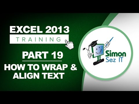 Excel 2013 for Beginners Part 19: How to Wrap and Align Text in Excel
