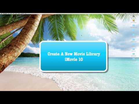 iMovie 10 (2017) HOW TO CREATE A NEW iMOVIE LIBRARY ON YOUR INTERNAL OR EXTERNAL HARD DRIVE