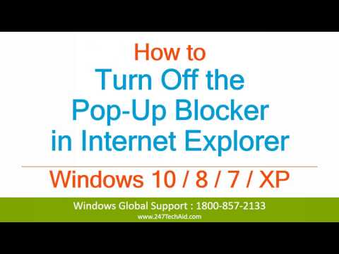 How to Turn Off the Pop‐Up Blocker in Internet Explorer