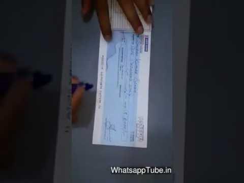 How to make a fake bank check 😉