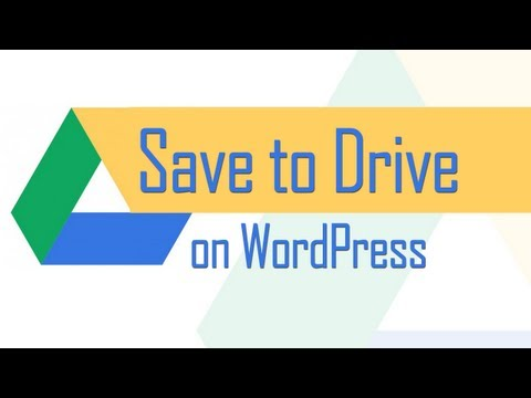 Add 'Save to Drive' button in WordPress post