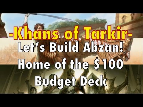 MTG - Let's Build Abzan! Home of the $100 Standard Deck For Magic: The Gathering