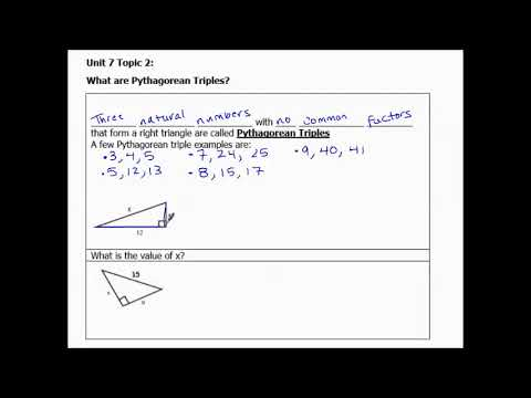9.1b Pythagorean  Triples