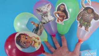 MOANA Balloons Finger Family Song | Nursery Rhymes for Kids and Babies
