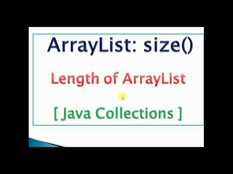 ArrayList length(size) in java example