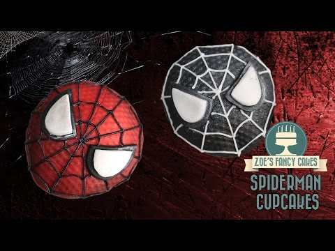Spiderman cupcakes: How to make Spider-man cupcakes