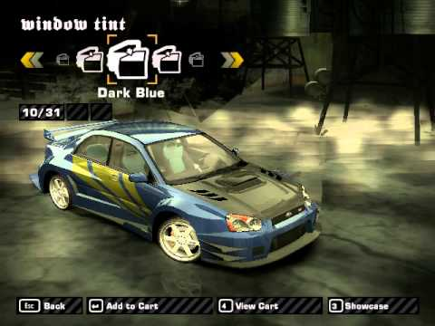 need for speed most wanted 2005 customization(subaru)