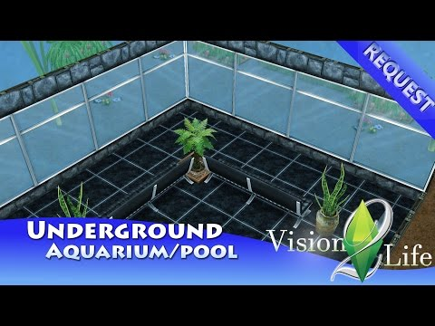 The Sims Freeplay - REAL Underground Aquarium/Pool!!