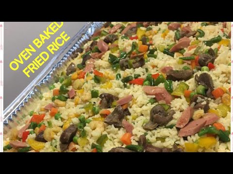 FRIED RICE BAKED IN OVEN / FAST & EASY / VEGETABLE FRIED RICE