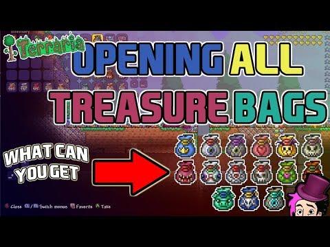 Terraria 1.3 Expert Mode ALL Treasure Bags - ALL Expert Mode Items / XBOX ONE!!!