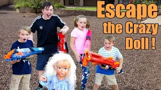 Download Escape the Crazy Doll! Sneak Attack Nerf Adventure with Ethan and Cole, Extreme Toys TV!
