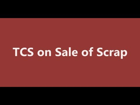 TCS on Sale of Scrap Entry in Tally | TCS Entry in Tally | TCS under GST