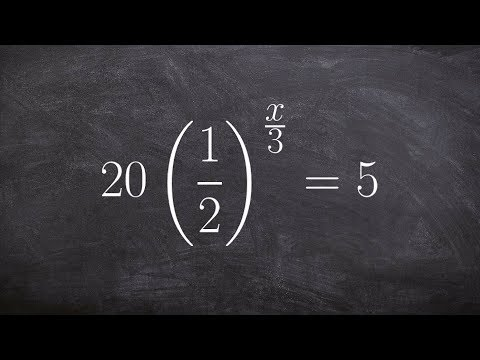 Solving an exponential equation using the one to one property