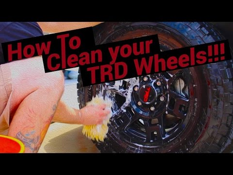 How To Clean Your TRD PRO Wheels!!! (John)