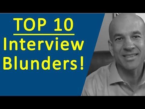 Top 10 Job Interview Mistakes - Job Interview Preparation Training Module 1