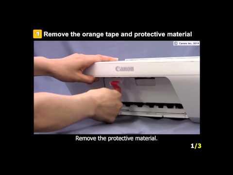 PIXMA MG2922: Setting up the Printer