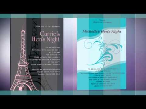Hens Night Invitations