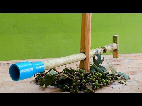 DIY Bamboo Gun Use Fruit Bullets - How to make bamboo gun for fun