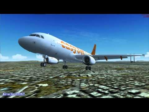 FSX -  Easyjet  Blackpool - Dublin A320  HD