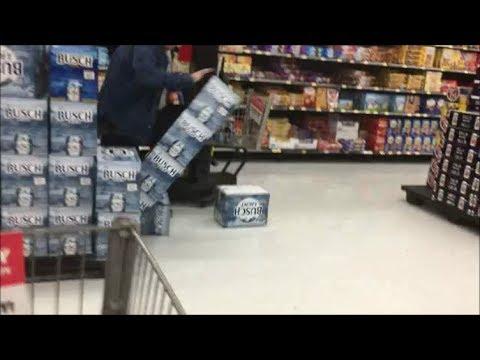 Cart Racing In Walmart FAIL!!!!!!!!!