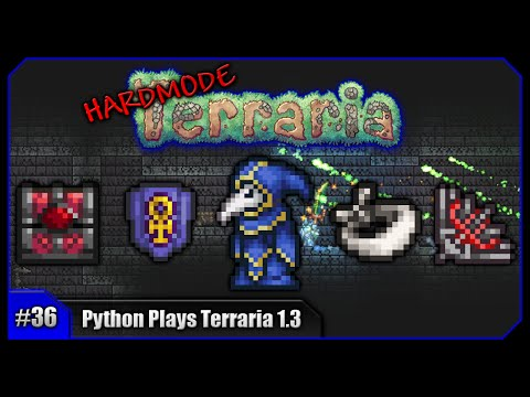 Python Plays Terraria || Painful Farming, Ankh Charm & Cultists! || Terraria 1.3 PC Let's Play [#36]