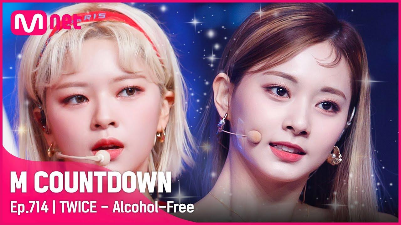 [TWICE - Alcohol-Free)] KPOP TV Show | #엠카운트다운 EP.714 | Mnet 210617 방송
