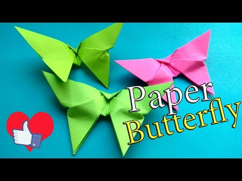 How To Make An Origami Butterfly Easy. Paper Butterfly for 3 Minutes Step By Step Tutorial