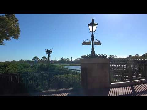 Walking From Boardwalk To Epcot!  Arriving in England!